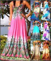 Angela New Women Summer Beach Sundress Evening Long Maxi Dress Size US