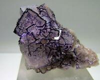 viollett kantenzonierte Fluorit xx seltene Stufe / Qinglong Mine, Dachang China!