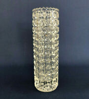 Antique Victorian Columbia Glass Co. clear pressed glass vase DAISY BAND c.1880s