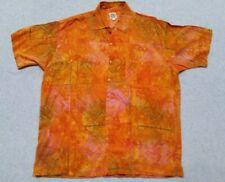 Exotic Cargo Mens Hawaiian Camp Shirt Island Beach SS 100% Rayon Extra Large