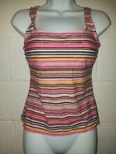 ec481b12f7 Women's Kim Rogers Multi color Tankini Top Swimwear Size S