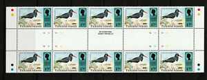 FALKLAND IS. SHEET OF 10 VALUES AT 17p, BIRDS, M.N.H.