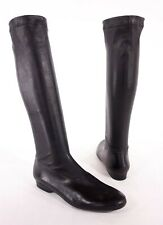 ROBERT CLERGERIE New 37 7 Black Stretch Leather Sock Boots $698