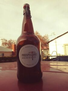 Prospector's Brewing Co. Brown Amber Beer Bottle Growler Rinse Refresh Refill