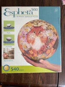 Esphera 360 3D Plastic Spherica Puzzle- Cats And Flowers