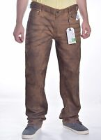 LRG Lifted Research Group Men's $98 True Straight Brown Denim Jeans Size 38 x 34