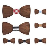 Wooden Bow Tie Business Men Necktie Handmade Tie Party Suit Accessory Charm