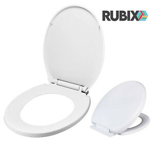 Toilet Seat White Bathroom Oval Shape Heavy Duty Lightweight Same Day Shipping