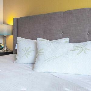 Premium Quality Hollow Fibre  Bamboo Pillow Head Neck Support UK Seller