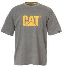Mens CAT Clothing Trademark Logo Tee Dark Heather Grey XL