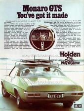 1971 HQ HOLDEN MONARO GTS 308 350 A3 POSTER AD SALES BROCHURE ADVERTISEMENT