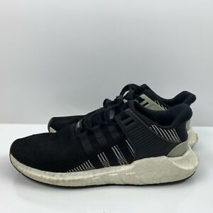 Adidas EQT Support 93/17 Primeknit Running Shoes Glitch Black White Mens 11.5
