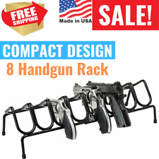 8 Handgun Rack Pistol Gun Stacking Revolver Safe Storage Stand Display Holder