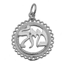 JEWISH Faith MAZEL GOOD LUCK CHARM Pendant Sterling Silver 925 Jewelry New