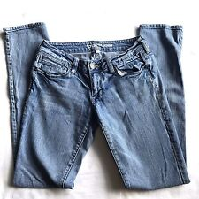 B by Bullhead Juniors Super Skinny Jeans Size 5 Medium Blue Wash Button Pocket