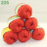 Lot of 6BallsX50g New Soft Warm Chunky Thick Wool Hand Knitting Yarn Orange