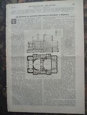 1889 Magdeburg Theater elektrische Beleuchtung Glasgow Katerine-Waserwerke