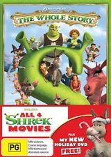 Shrek - The Whole Story : Quadrilogy (DVD, 2014, 4-Disc Set)