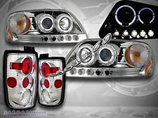 1997-2002 Ford Expedition Chrome Halo Projector Headlights LED + Tail Lights NEW