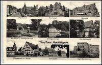 STADTHAGEN Niedersachsen AK um 1945 Mehrbild-AK ua. evangelisches Krankenhaus