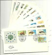 Greece 1990 Complete Year Set Official FDC