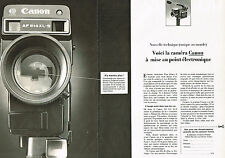 PUBLICITE ADVERTISING  1980   CANON   caméra  514 XLS  (2 pages)