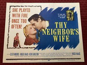 """Thy Neighbor's Wife"" Original Movie Lobby Card 1953 #1 53-531 11x14"
