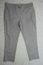 BLUE ILLUSION silver grey cotton blend capris cropped stretch jeans size XL NWOT