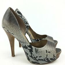 Jessica Simpson Heels Size 6 36 Acadia Multicolored Snake Print Dorsey Peep Toe