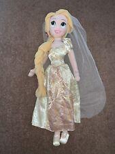 Disney Store Plush Princess Doll Repunzel Wedding Rare Soft Toy Teddy + Cape
