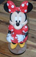 "Walt Disney World Resort Minnie Mouse Statue Bobble Head Figurine 9"""