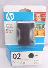 Genuine HP 02 Black Inkjet Cartridge Vivera Photosmart Printer C8721WN 11/2009