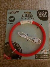 Dog Light Up Collar 6 Led Light Pet Small To Medium Red 3 flashing Mode...