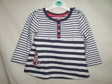 9b8060a73 Disney Niñas Azul a Rayas Manga Larga Vestido de 100% algodón Talla 9-12  meses