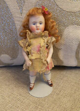 "Antique 5"" Mignonette Size Kestner Mold 184 All Bisque Doll Antique Dress"