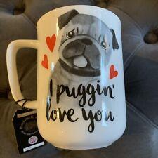 Pug Mug I Puggin Love You Coffee Cup Mug Dog Lover Valentines day Gift Idea New
