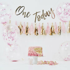 Pink Gold Baby Girl 1st Birthday Party Decorations Cake Smash Kit Photo  Backdrop 062d7661ab90