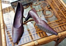TAMARIS Quality Brown Leather Court Shoes Size 6 (39)
