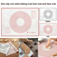 Nonstick Silicone Dough Rolling Mat Baking Fondant Pastry Clay Pad Sheet 40x50cm