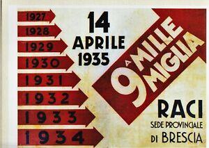 VOLANTINO  ORIGINALE  MILLE  MIGLIA  1935