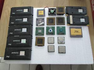 lot processeur Pentium MMX PRO 2 3 4 Dual Core Sempron Celeron AMD Duron WinChip