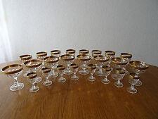 24 Gläser mit Goldrand Set 8 Pers.