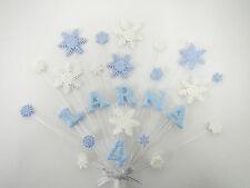Snowflake, congelati, Compleanno, Natale Cake Topper personalizzato qualsiasi nome, età