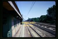 1973 Homewood, IL, IC Illinois Central Depot Station Scene, Original Slide c8b