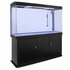 Fish Tank Cabinet Aquarium LED Light Tropical Marine Large Black 4ft 300 Litre