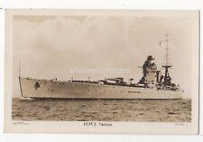 HMS Nelson Royal Navy Battleship Vintage RP Postcard Wright Logan Southsea 891b