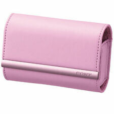 SONY LCS-TWJ/P Soft Carrying Case For Cyber-shot LCSTWJ Pink/GENUINE