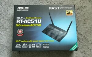 ASUS RT-AC51U Dual-Band Wireless AC750 Cloud Router Black