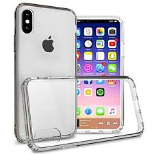 Clear Hybrid Hard Slim Fit Back Cover Phone Case for Apple iPhone XS / iPhone X