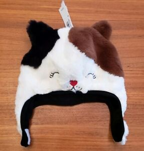 NEW Old Navy Toddler Girls 2T-3T Plush Kitty Cat Winter Hat Faux Fur SOFT #31719